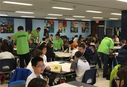 Middle School Students Participate in First Ever Hack-athon
