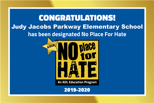 No Place for Hate - Gold Star Designation 2019-20