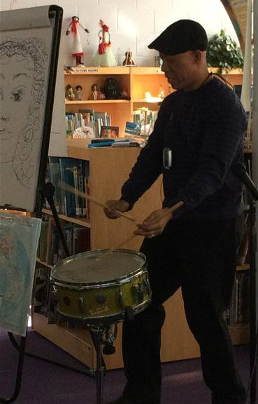 Mr. Pinkney taught us his favorite beat- The Paradiddle!